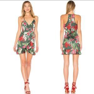 Lovers and friends Gigi wrap dress hot tropics